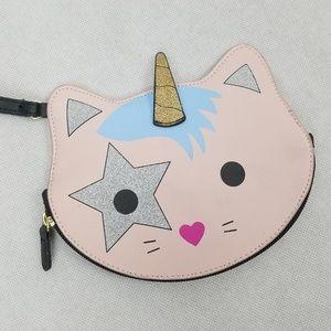 BETSEY JOHNSON Unicorn Kitty Glitter Wristlet Cute